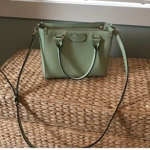 Mint green Kate Spade purse